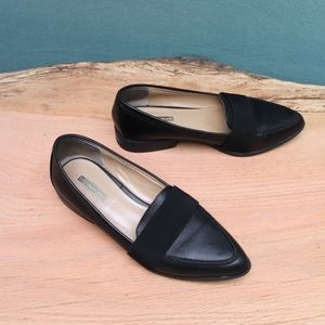 BCBGeneration Jo Black Leather Pointed Loafers 8.5